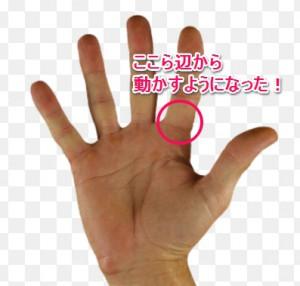 練習後の指の使い方
