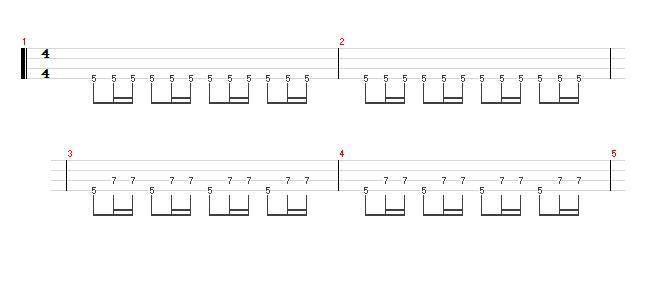 ベース指弾きの高速ピッキングも楽勝!隣の弦に移動する16ビートのコツ