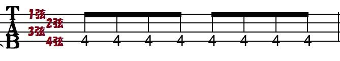 tab譜(弦説明)