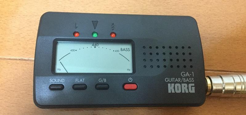 KORG(コルグ)のカード型ギター・ベース用チューナーGA-1レビュー~その2~
