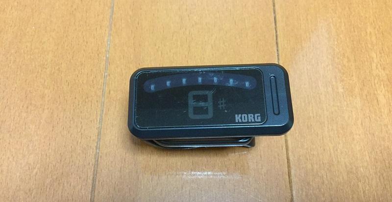 定番チューナー、KORG(コルグ)のピッチクリップをベースでレビュー