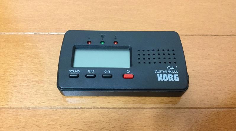 KORG(コルグ)のカード型ギター・ベース用チューナーGA-1レビュー