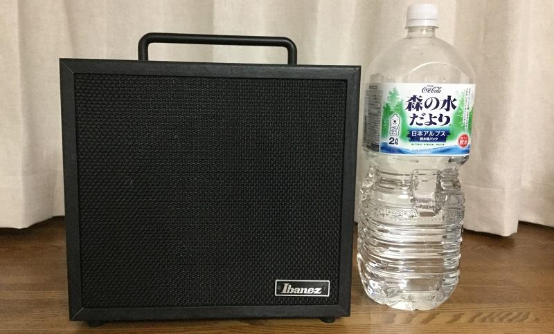 アンプと2Lペットボトル(正面)